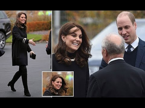 Kate pregnant looked to be in excellent spirits as she and William tour of the city on Wednesday