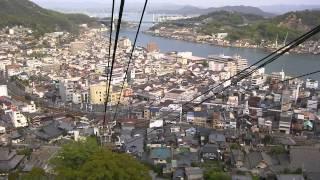 尾道千光寺ロープウェイ 当日は良く晴れ渡り視界も良かったと思います 撮影2011年4月26日 当時は「かみちゅ」と言うアニメの舞台と言う事で...