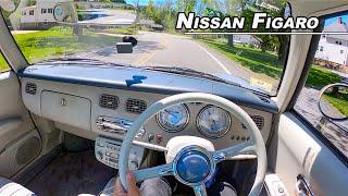 1991 Nissan Figaro POV Test Drive - The Happiest Car on Earth (Binaural Audio)