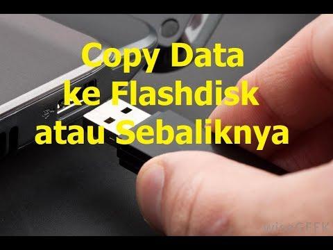 Cara Menyimpan Data ke Flashdisk.