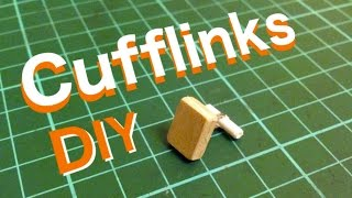 How to make Cufflinks from household item (without cufflink blanks)