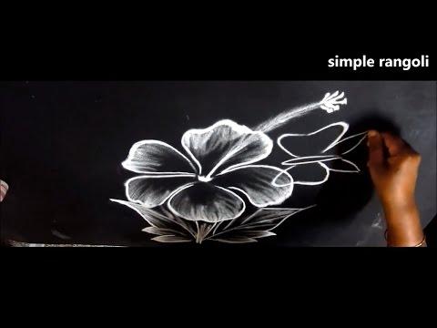 simple kolam designs without dots    creative freehand kollam    muggulu without dots