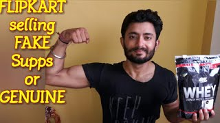 Is FLIPKART selling FAKE supps ???? | MUST WATCH