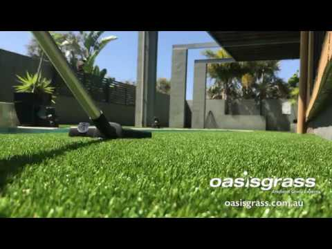 Cleaning artificial grass
