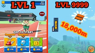 Jetpack Jump (High Score 18.000 m) - Gameplay Android
