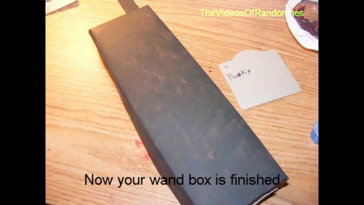 DIY Harry Potter-How to make a Harry Potter wand box. - YouTube 1730a9b75ae1