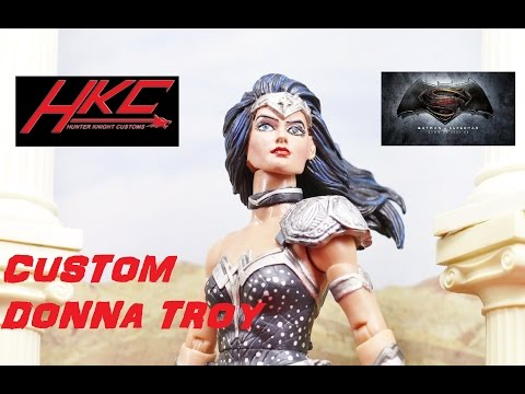 Custom Batman V Superman style DONNA TROY Dc Multiverse figure by HKC
