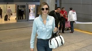 Miranda Kerr With New Chic Bob Is All Smiles When Asked If She'll Marry Evan