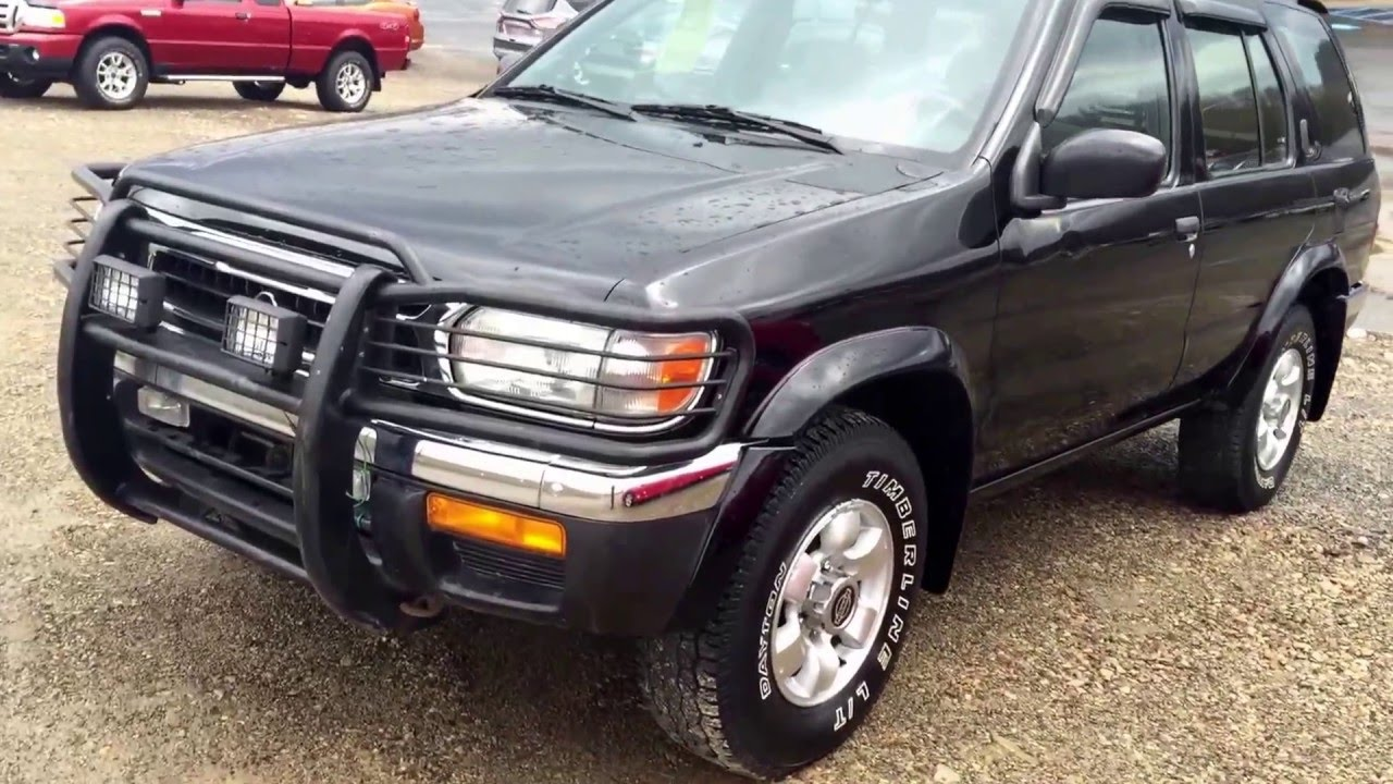 Stoystown Auto Sales >> Nissan Pathfinder 1998 black sunroof and more - YouTube