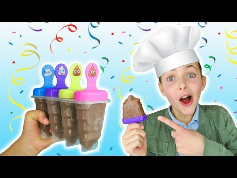 How To Make Nutella Chocolate Emoji Popsicles | Easy Recipe | Kids Cooking And Crafts