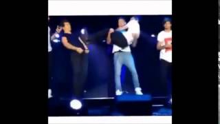Liam carrying Zayn and then Harry fell (Funny)