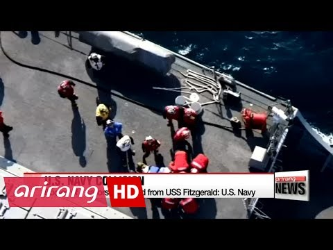 U.S. Navy recovers bodies after collision with container ship