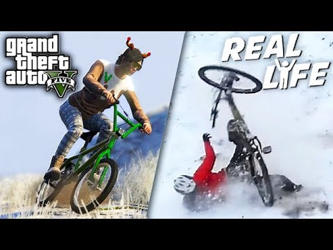 GTA 5 VS REAL LIFE 13 ! (fun, fail, stunt, ...)
