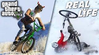 GTA 5 VS REAL LIFE 13 ! (fun, fail, stunt, snow, ...)