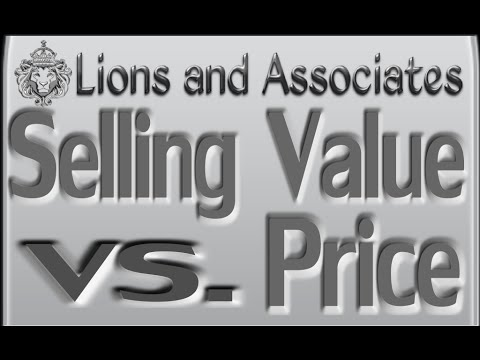 Selling Value vs. Price & Knowing Your Product by Mike Lions