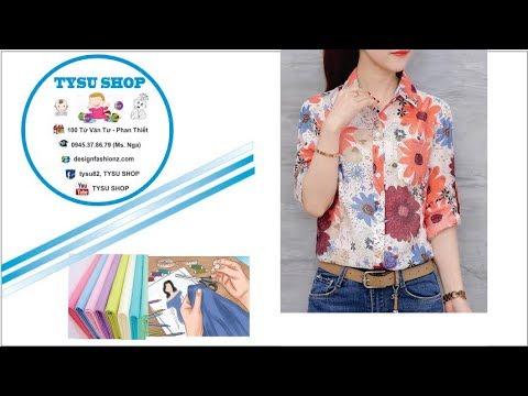 80-Thiết kế áo sơ mi nữ |dạy cắt may online miễn phí | sewing online class free | tysu shop