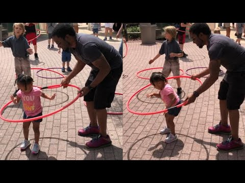 Mike Perry - Two Year Old Girl Can Hula Hoop (With Some Help From Dad)!