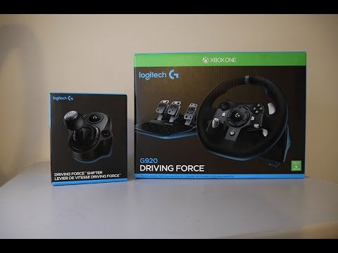 Logitech Racing Wheel Pc Xbox One G920 Driving Force Unbox