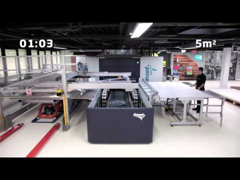 How fast is the Inca Onset R40i Wide Format Digital Inkjet Printer?