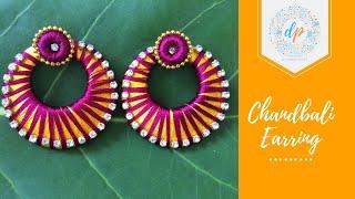 Silk thread chandbali earring making