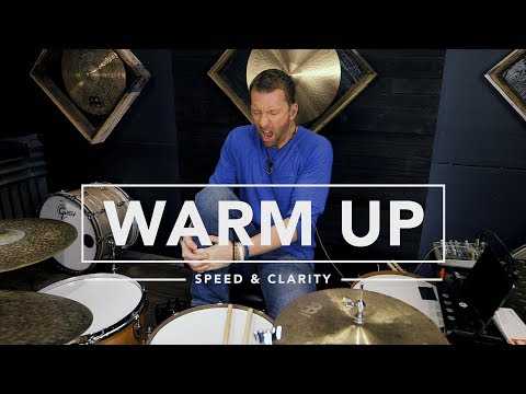 Speed & Clarity Warm Up - Drum Lesson - MikesLessons.com
