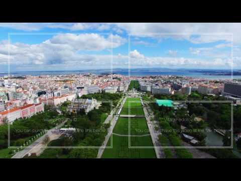 Lisbon Eduardo VII Park aerial shooting