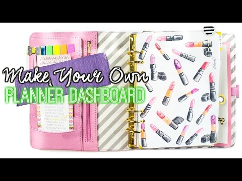 Make Your Own Planner Dashboard With Any Image // villabeauTiFFul