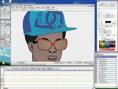 How to import a base cap into an already built character in anime studio pro .flv