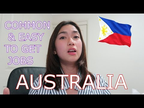 MOST COMMON & EASY TO GET JOBS IN AUSTRALIA 2020 ❤️ | RHEA LORRAINE
