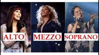 Contralto, Mezzo & Soprano - Low & High Notes
