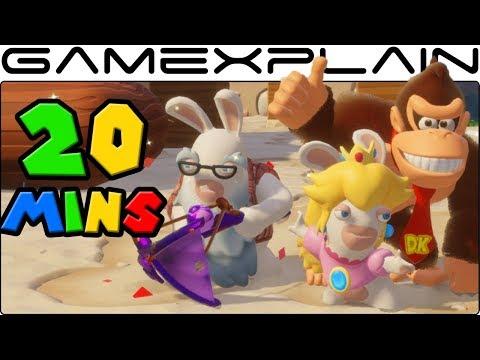 20 Minutes of DK Adventure DLC Gameplay w/ Rabbid Cranky Kong (Mario + Rabbids Kingdom Battle)