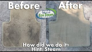 Clean Dirty Vehicle Floor Mats with Steam - Orlando FL