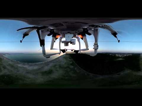 thetaXphantom 360度カメラを掴んで飛んだテスト
