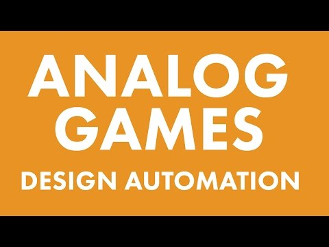 Analog Games: Design Automation with SVG