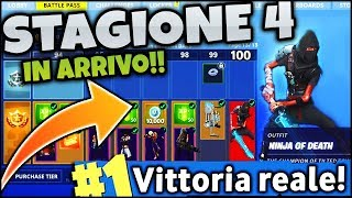 "SEASON 4 IN ARRIVO!!!! ""-- let's get ready!! FORTNITE ITA REAL VITTORY & STRA EPIC FAILS"
