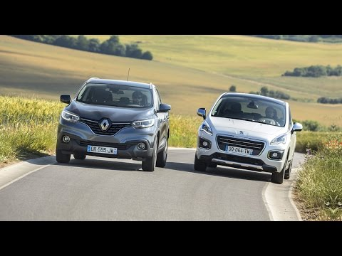 2015 renault kadjar vs peugeot 3008 comparatif automoto youtube. Black Bedroom Furniture Sets. Home Design Ideas