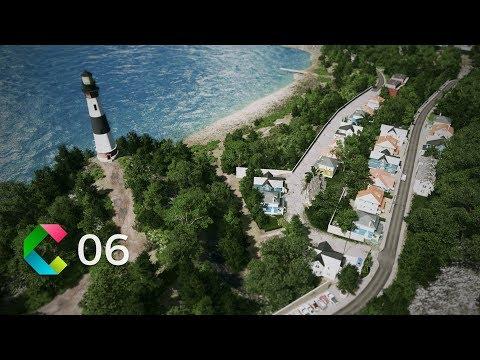 Cities: Skylines   Cleyra -  6 - Lighthouse, Beach , Skatepark and Ocean Restaurant