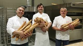 Обучение пекарей. Формовка французского традиционного багета.