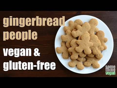 gingerbread people cookies (vegan & gluten-free) Something Vegan