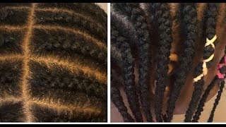 Complete Cornrow Hair Tutorial: Beginners Friendly|| Almost Unedited Video