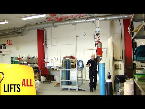 Lifting gas tubes with vacuum / Lyfta gastuber med vakuum - Lifts All