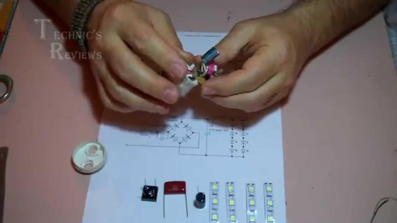 драйвер светодиодной лампы схема
