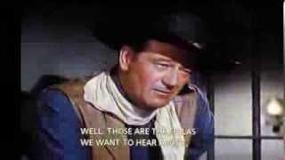 Bad Companions scene from The Comancheros w/John Wayne