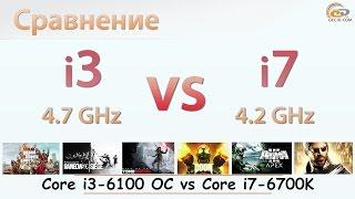 Сравнение вычислительной части процессоров Intel Core i36100 и Intel Core i76700K Разбираемся в вопросе есть ли смысл