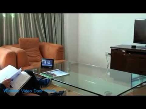 sonnette avec cam ra sans fil moniteur lcd 7 pouces youtube. Black Bedroom Furniture Sets. Home Design Ideas