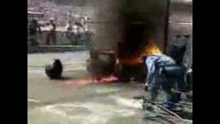 F1 Pit Stop Fire Accident - 1994 German GP, Jos Verstappen