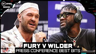 Fury back on the Mic, Wilder silent! Tyson Fury v Deontay Wilder 3 Press Conference highlights
