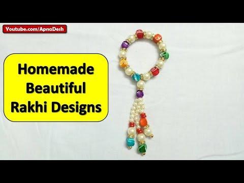 Homemade Rakhi Designs 2018, Images, Photos and Rakhi Making