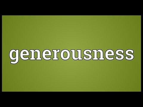 Header of generousness