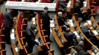 Hlasování v Ukrajinském parlamentu